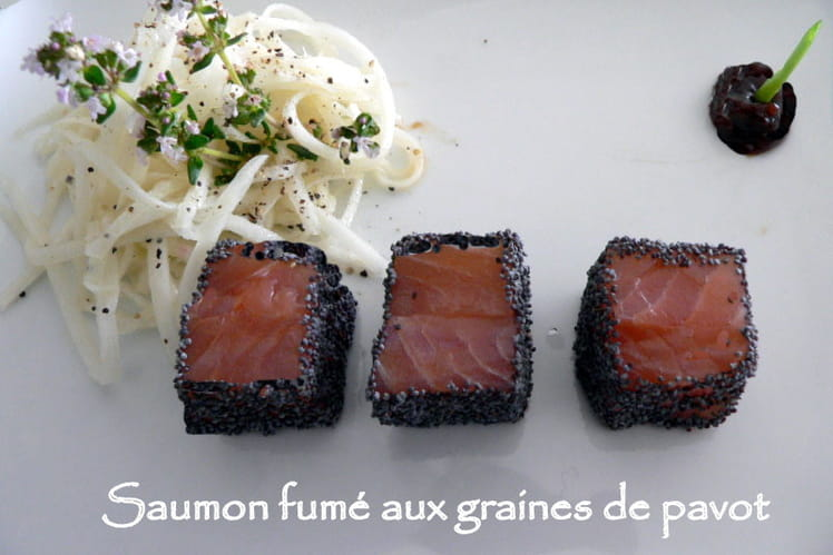 Saumon fumé aux graines de pavot