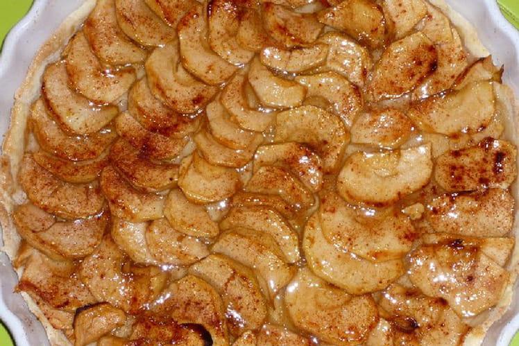 Tarte aux pommes et à la cannelle maison