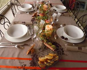 l'automne et ses couleurs s'invitent à table