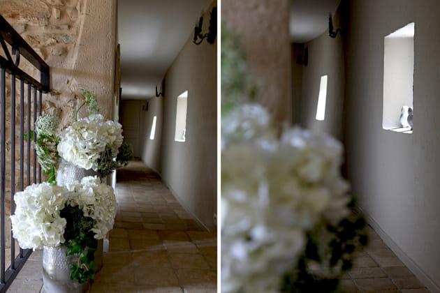Couloir en fleurs
