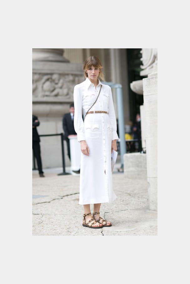Street looks fashion week haute couture : immaculé