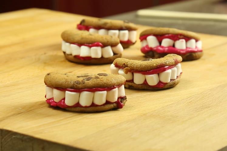 Cookies dentiers d'Halloween