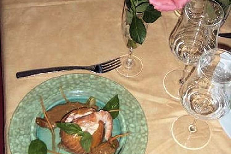 Bavarois de crevettes rubanné au saumon fumé