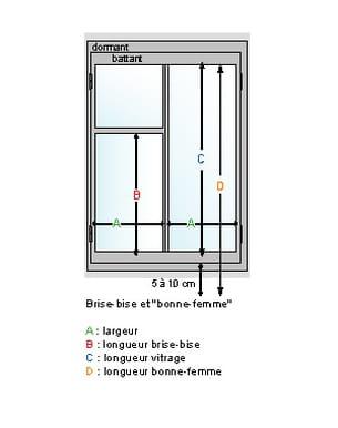 pour prendre les mesures d'une fenêtre
