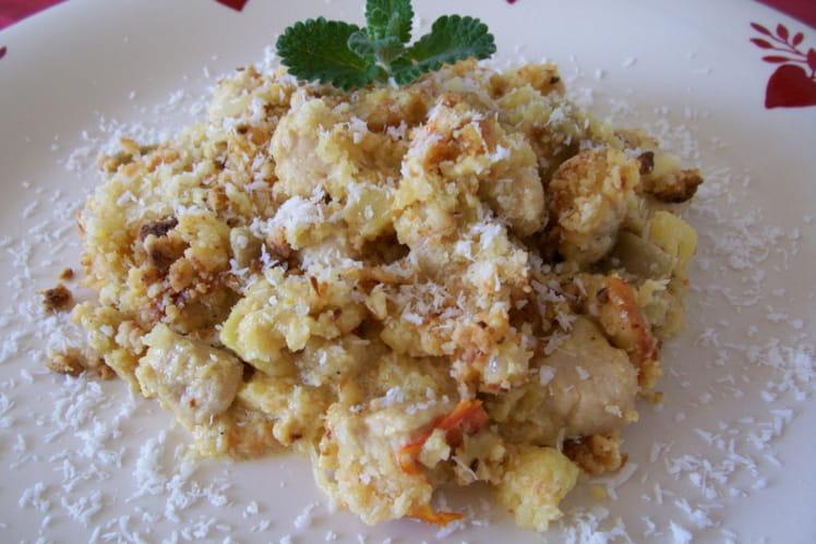 Curry de poulet en crumble