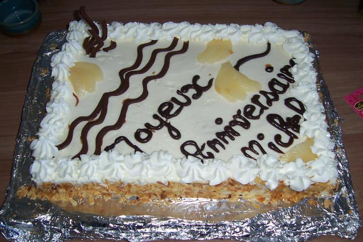Gâteau à la mousse de poires