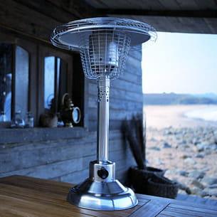 Coup de coeur de la semaine le parasol chauffant de for Parasol chauffant de table