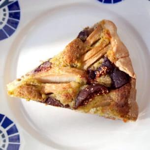 tarte poire, figue, pistache