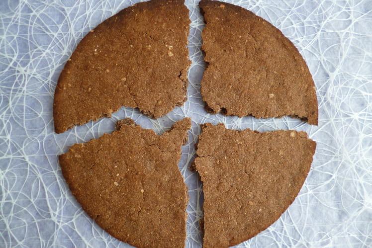 Biscuit géant cacao coco avec souchet sarrasin lupin
