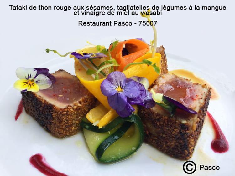 Recette De Tataki De Thon Rouge Aux Sésames Tagliatelles De - Cuisiner du thon rouge
