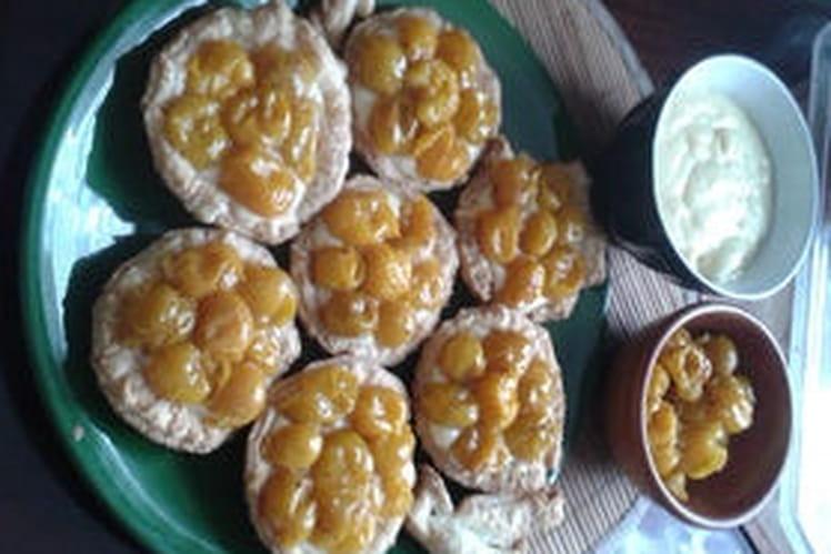 Tarte mirabelles crème pâtissière