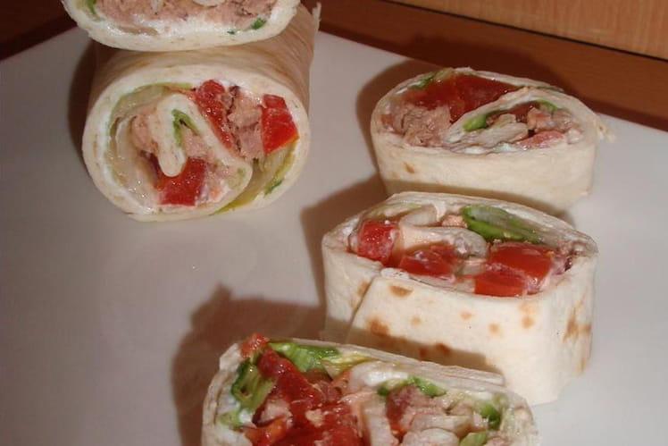 Wrap thon & crudités