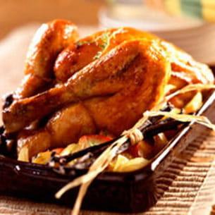 poulet rôti au miel et à la vanille