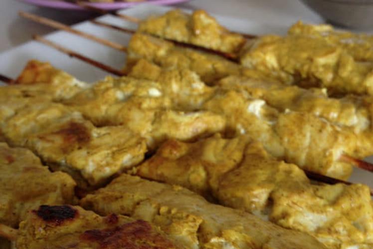Brochettes de thon aux épices douces