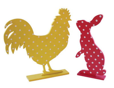 lapin et coq 'dotty' de coming b.