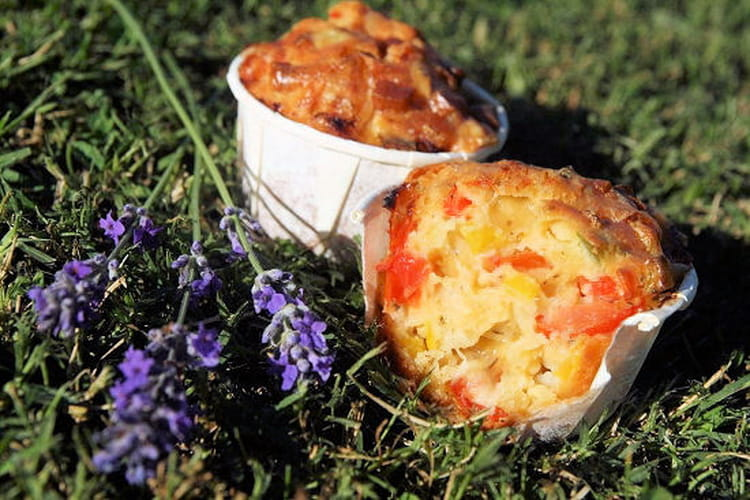 Muffins aux légumes d'été