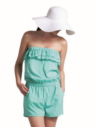 combi-short turquoise de tissaia