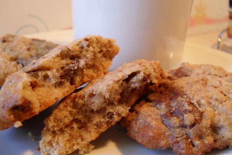 Cookies avoine, noix de pécan et chocolat au lait
