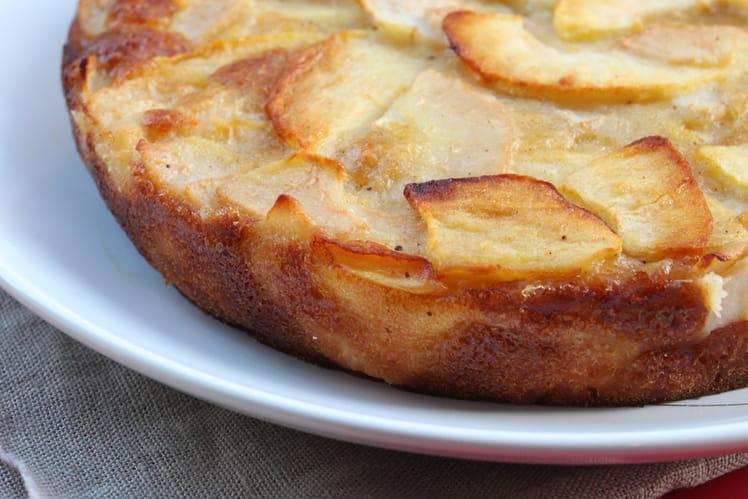 Gâteau invisible aux pommes et aux poires