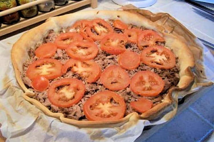 Tarte thon et fromage ail et fines herbes