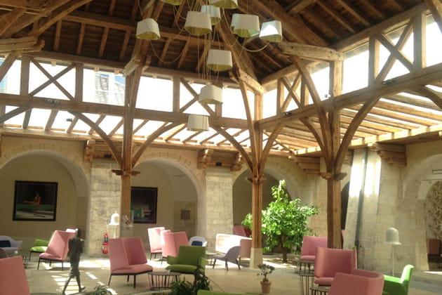 Le cloître intérieur de l'hôtel