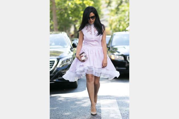 Street looks fashion week haute couture : aérien