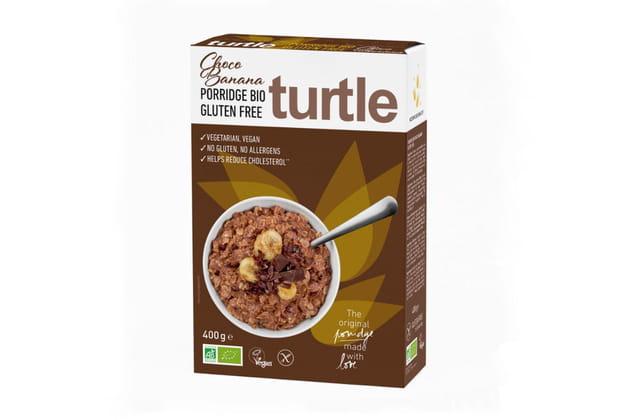 Le Porridge bio banane et chocolat de Turtle