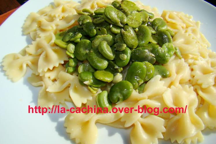 Pâtes aux fèves vertes