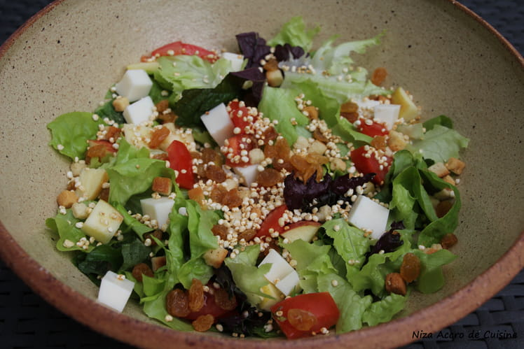 Salade au shiso et quinoa soufflé