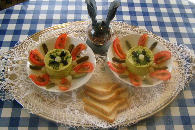 Mousse de courgettes à l'ail et persil