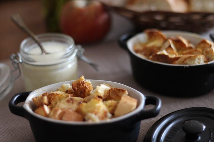 Bread pudding aux pommes