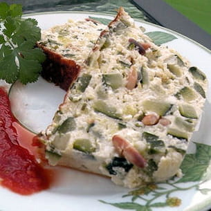 terrine chèvre-courgette