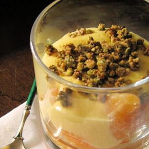 clémentines en sabayon aux pistaches caramélisées