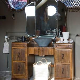 coiffeuse vintage. Black Bedroom Furniture Sets. Home Design Ideas