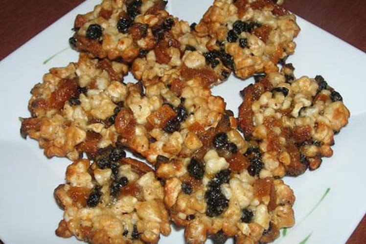 Florentins aux amandes, fruits confits et raisins secs