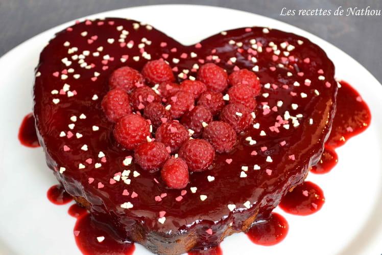 Gâteau aux framboises pour la Saint-Valentin