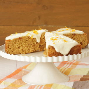 gâteau fondant orange, amande et huile d'olive