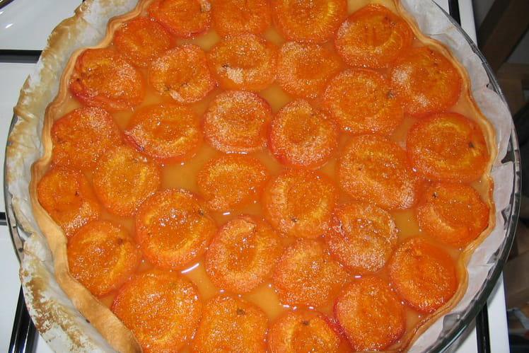 Tarte à l'abricot et confiture d'abricots