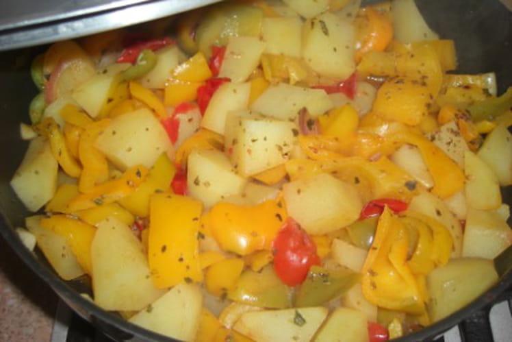 Compotée de poivrons et pommes de terre