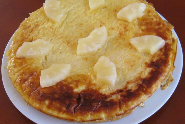 Flan à l'ananas caramelisé