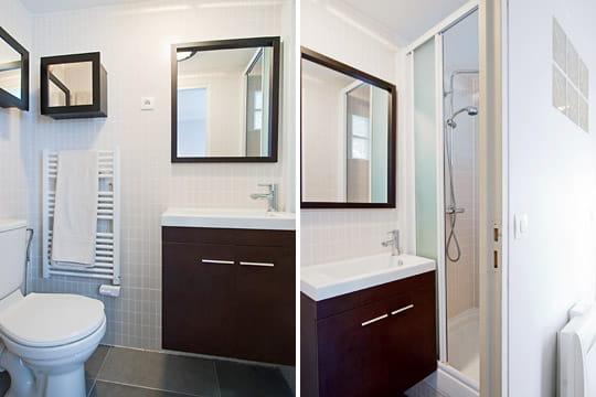 Appartement XVIIIe modernisé par MyHomeDesign : salle d'eau