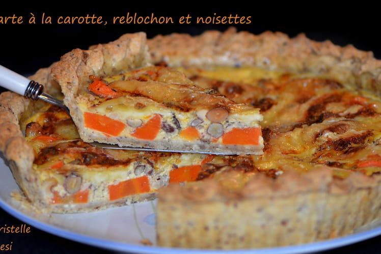 Tarte à la carotte, reblochon et noisettes