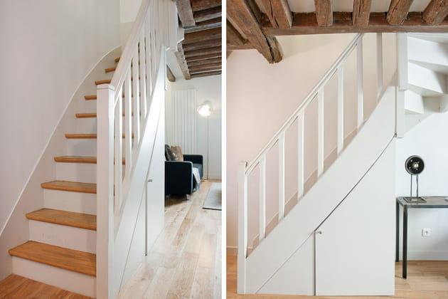 Un escalier qui dissimule un placard for Deco escalier ancien