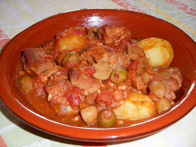 Recette de saut de veau aux olives la recette facile - Cuisiner tendron de veau ...