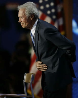 clint eastwood à la convention républicaine, le 30 août 2012, à tampa.