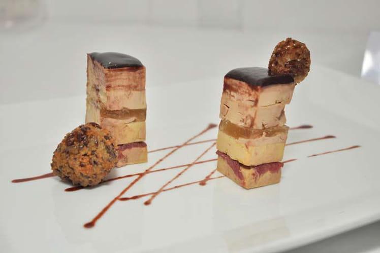 Petits pavés de foie gras aux galettes de sarrasin