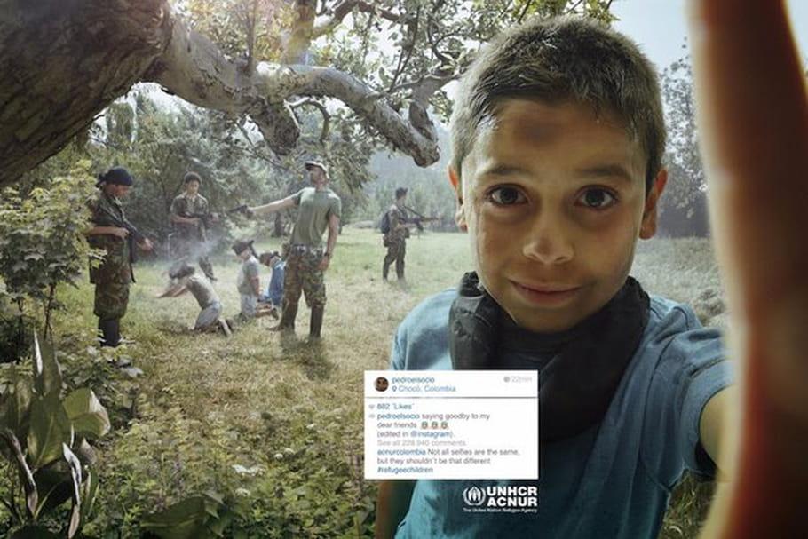 Des selfies mettent en lumière la condition des réfugiés