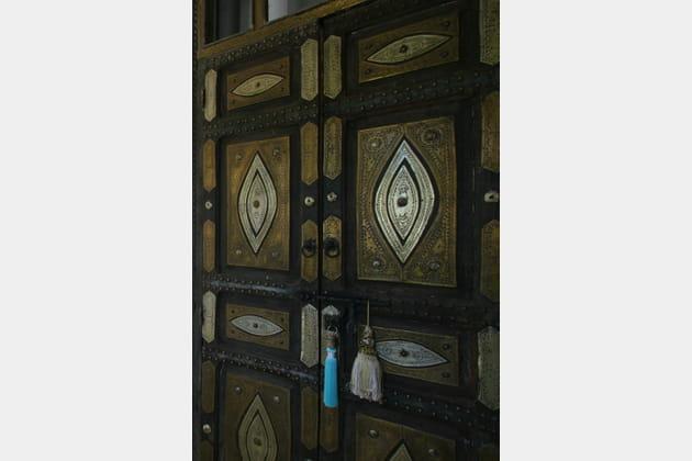 Une porte agrémentée