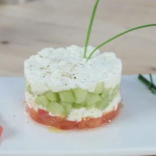 tartare tomate, concombre, feta