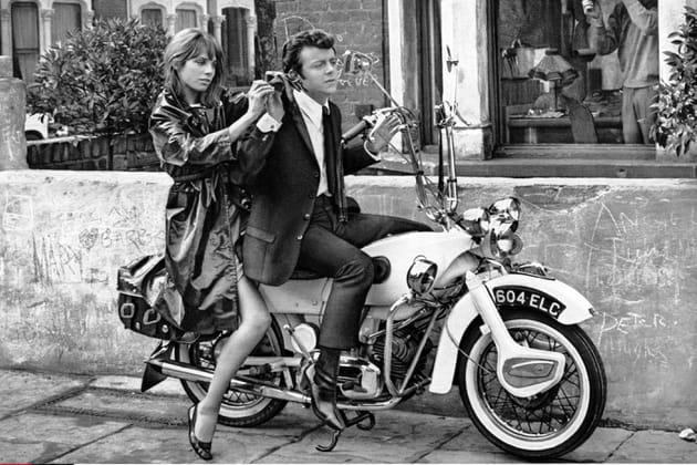 """Sur le tournage de son premier film """"Le Knack... et comment l'avoir"""", 1965"""